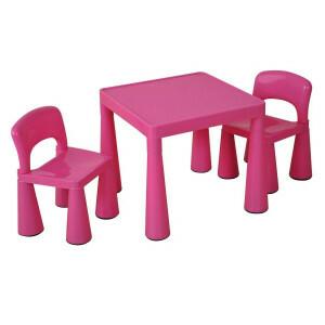 Kinder Rosa Tisch & Stühle Set -  (SM004P)