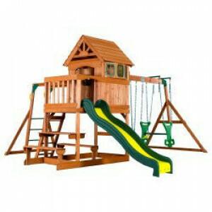 Backyard Discovery Springboro Alle Zedernholz Spielset Schaukel Set