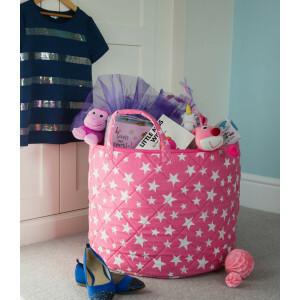Stern Spielzeugkorb (Rosa) - Kiddiewinkles (PINKSTB)