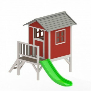 Sunny Lodge XL Spielhaus rot / weiß 190 x 260 x 167 cm