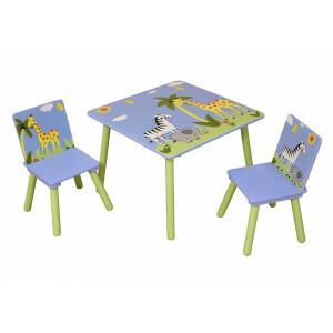 Safari Square Tisch & 2 Stühle Set -  (TF5001)