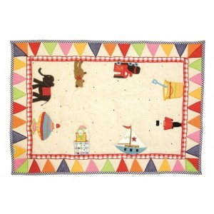 Toy Shop Playhouse Floor Quilt (Win Green – Groß)