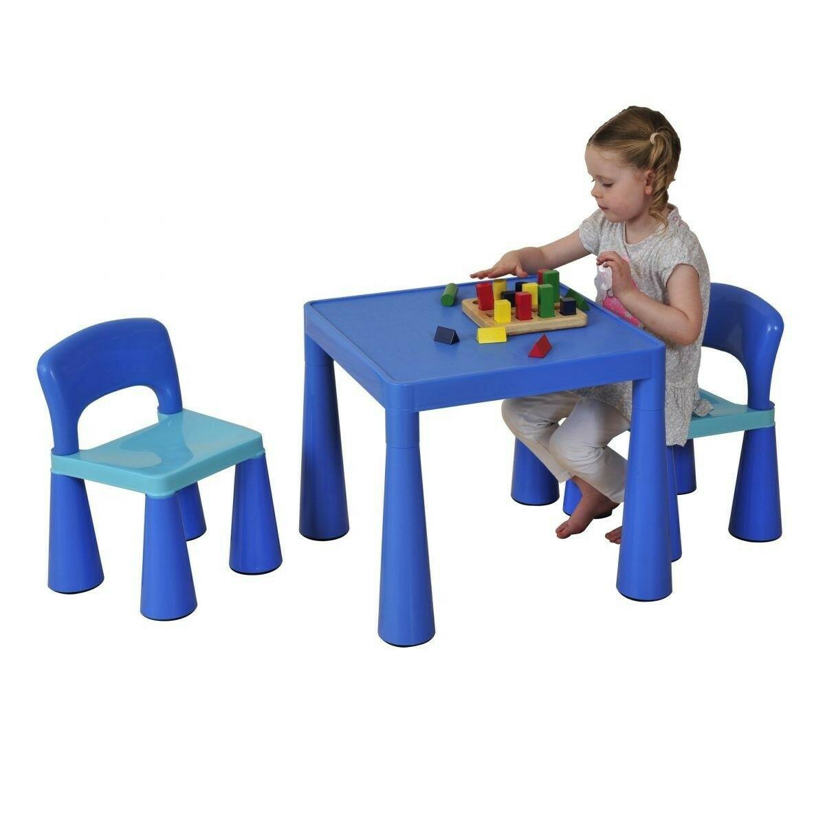 Kinder Blau Tisch & Stuhl Set SM004B